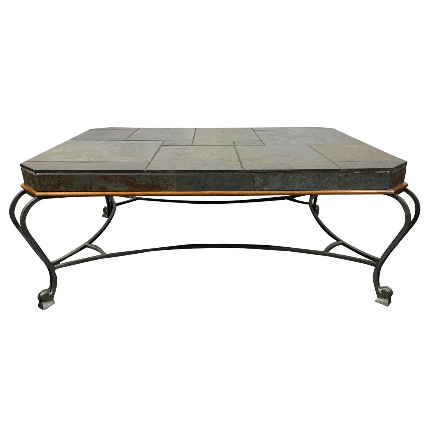 Drexel Heritage Et Cetera Slate Metal Coffee Table