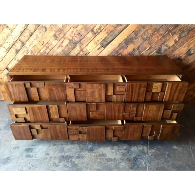 Mid Century Brutalist Dresser by Lane - Image 3 of 7