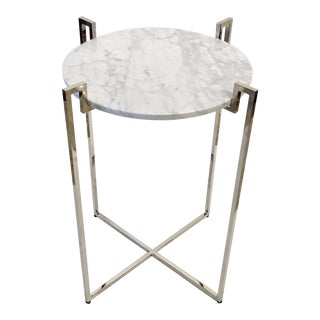 Worlds Away Abel Nickel Side Table