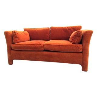 Vintage Rust Orange Loveseat