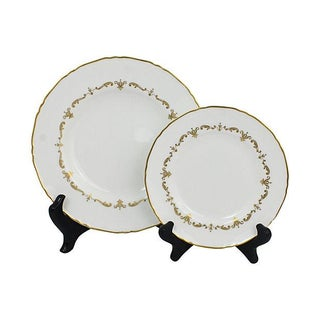Royal Worcester Gilded Plates - A Pair
