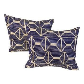 African Woven Textile Pillows - A Pair