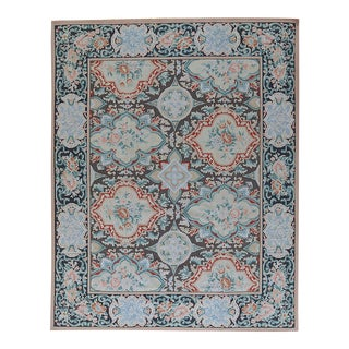 """Pasargad Aubusson Hand-Woven Wool Rug- 8'11"""" X 12' 2"""""""