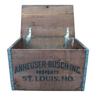 Anheuser-Busch Budweiser Beer Wooden Crate