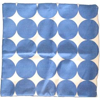Blue Dot Square Pillow