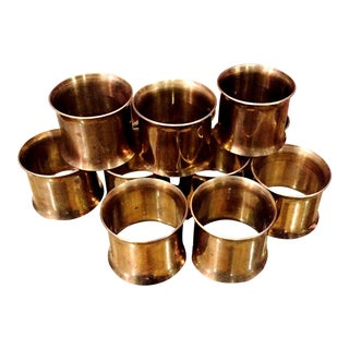 Vintage Brass Napkin Rings - Set of 10