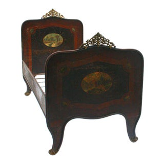 Italian Tole Beds - A Pair