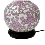 Image of Vintage Chinoiserie Pink & White Lamp