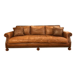 Ralph Lauren Leather Aran Isles Sofa. Vintage   Used Sofas   Chairish