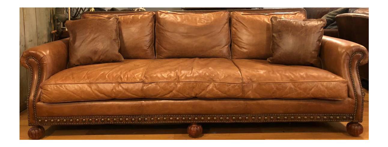 Ralph Lauren Leather Aran Isles Sofa