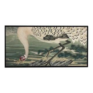 De Gournay Custom Crane Art Piece