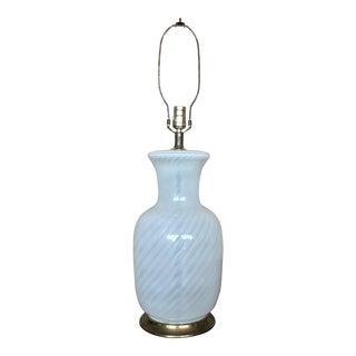 Vintage Italian Glass Table Lamp
