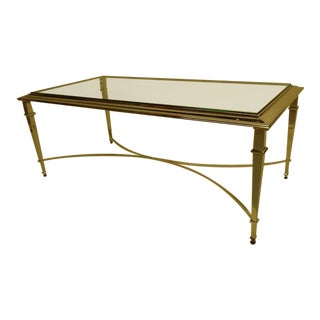 French Modern Neoclassical Nickeled Cocktail Table in the Style of Maison Ramsay