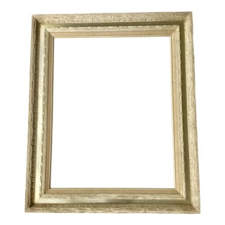Mid-Century Carved White Wood Frame