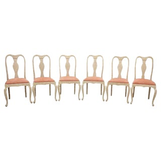 Queen Anne Blush Dining Chairs - Set of 6