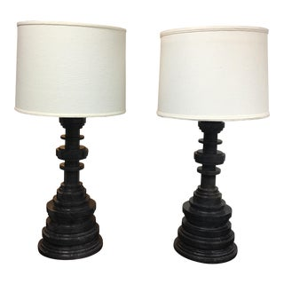 Ironies Tibilsi Marble Table Lamps - A Pair
