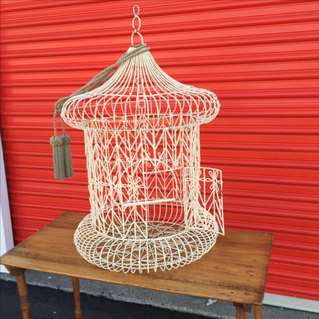 Vintage Shabby Chic Bird Cage - Image 4 of 9