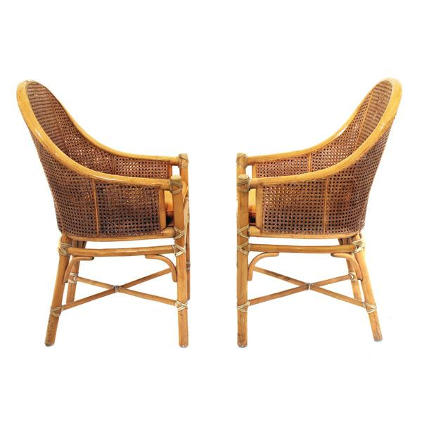 McGuire Rattan and Cane Dining Set - Image 3 of 10