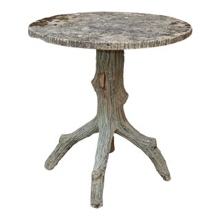 Vintage Faux Bois Side Table