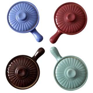 USA Pottery Soup Bowls & Lids - Set of 4