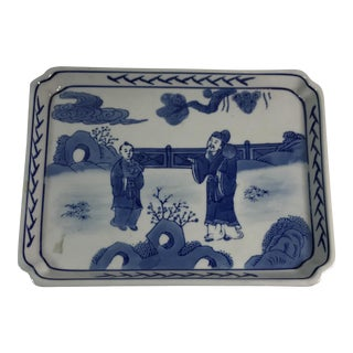 Blue & White Chinese Porcelain Tray