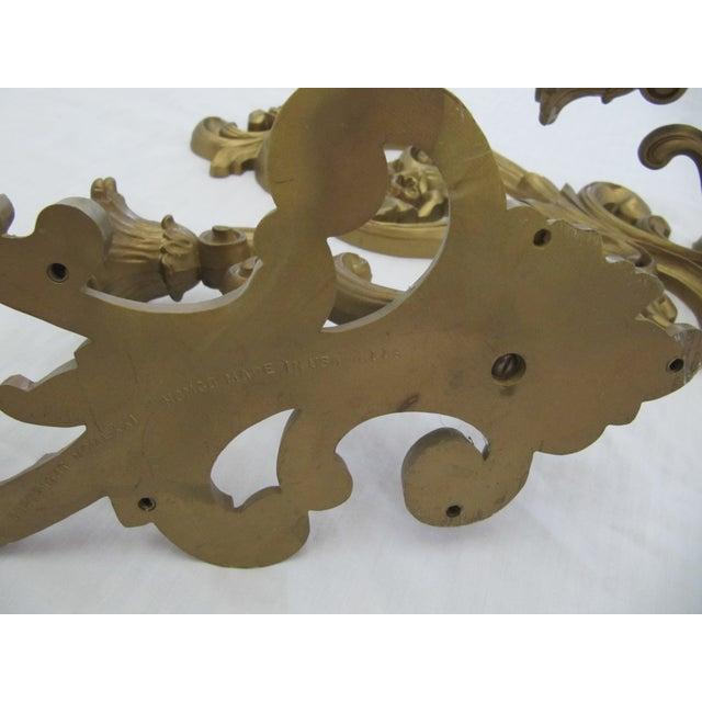 Homoco Gold Candle Sconces - Set of 3 - Image 6 of 6