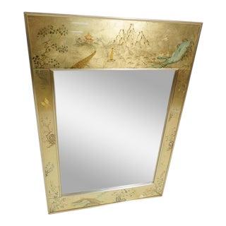 La Barge Eglomise Reverse Painted Mirror