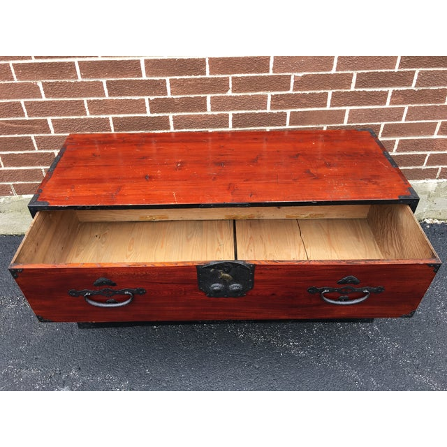 Two Drawer Primitive Chest with Metal Hardware - Image 8 of 10