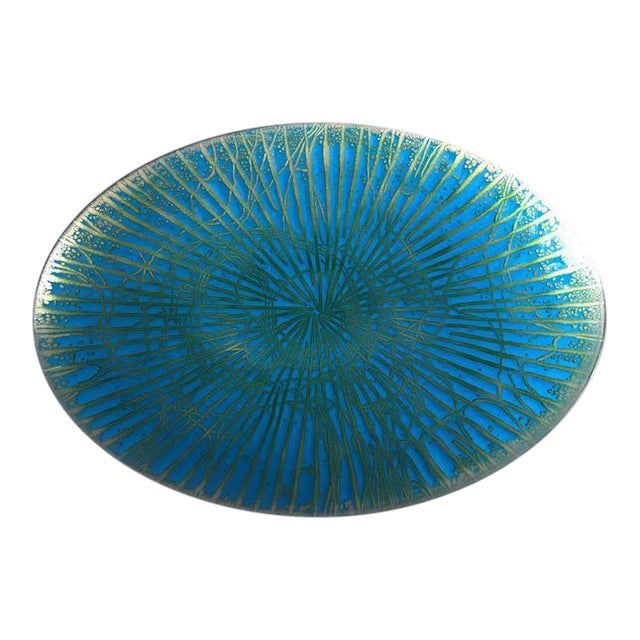 Mid Century Modern Enamel Over Copper Plate/Dish - Image 1 of 5