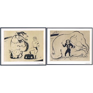 1944 Lithographs - Circus: # 50 & 51 - A Pair