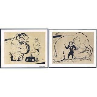 1944 Lithographs - Circus: # 50 & 51 - A Pair