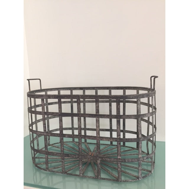 Vintage Zinc Basket - Image 3 of 8