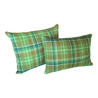 Maharam Pressed Plaid Pillows - A Pair