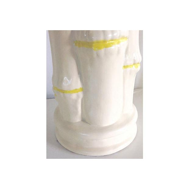 Image of 1960s Ceramic Faux Bamboo Lamps - Pair