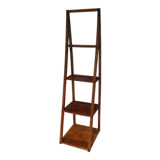 Stair Step Teak Wood Shelf