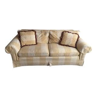 Yellow & White Striped Sofa