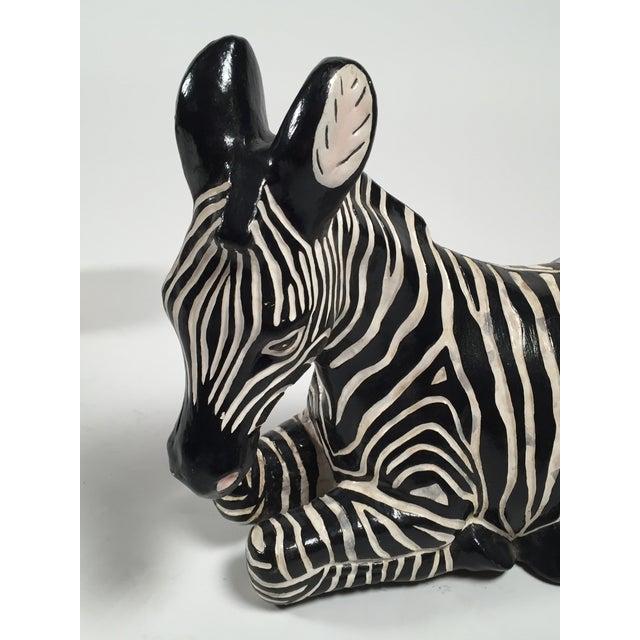 Ceramic Zebra Figure - Image 5 of 5