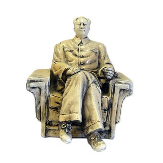 Chinese Clay Chairman Mao Sitting Display Figure