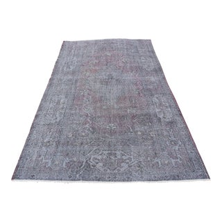 Vintage Turkish Oushak Rug - 4′10″ × 8′4″