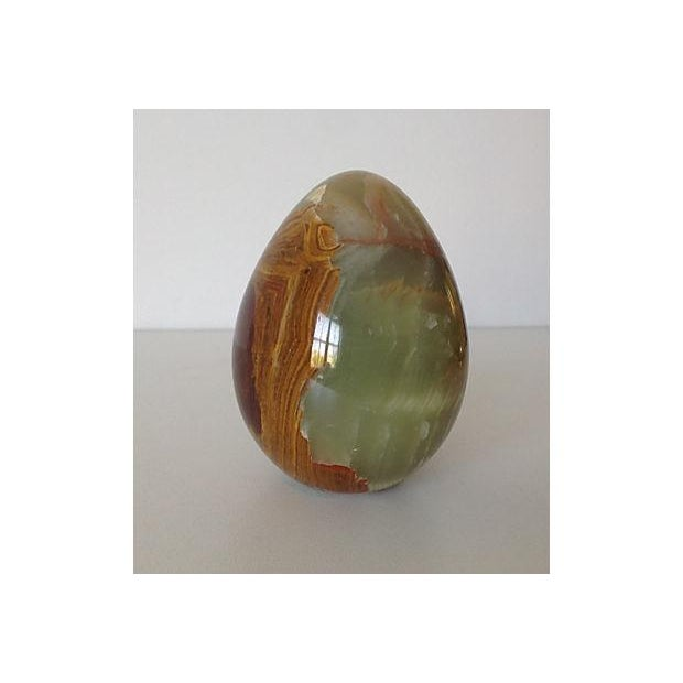 Onyx Large Egg-Shaped Paperweight or Accent - Image 3 of 5