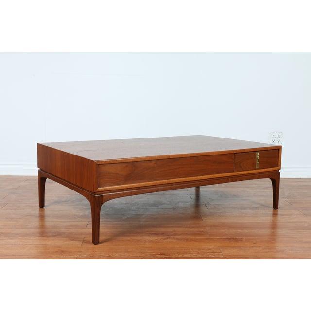 Image of Richard Thompson Style Walnut Coffee Table