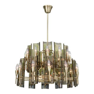 Stunning Chandelier in the Style of Fontana Arte