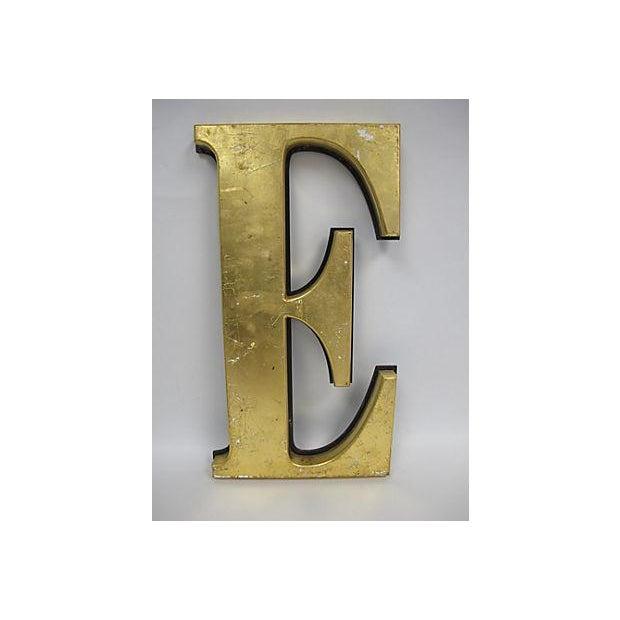 Image of Large Gold English Pub Letter 'E' Sign