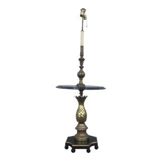 Vintage Brass Pineapple & Marble Floor Lamp
