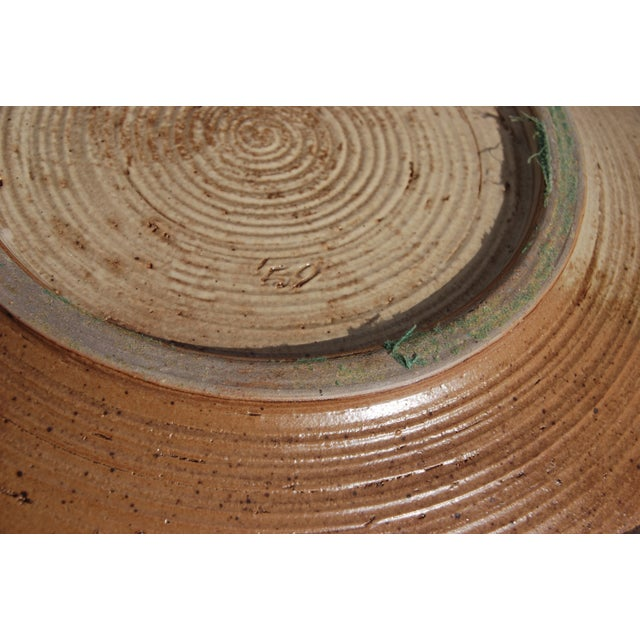 Mid-Century William Wyman Style Pottery Charger - Image 9 of 11