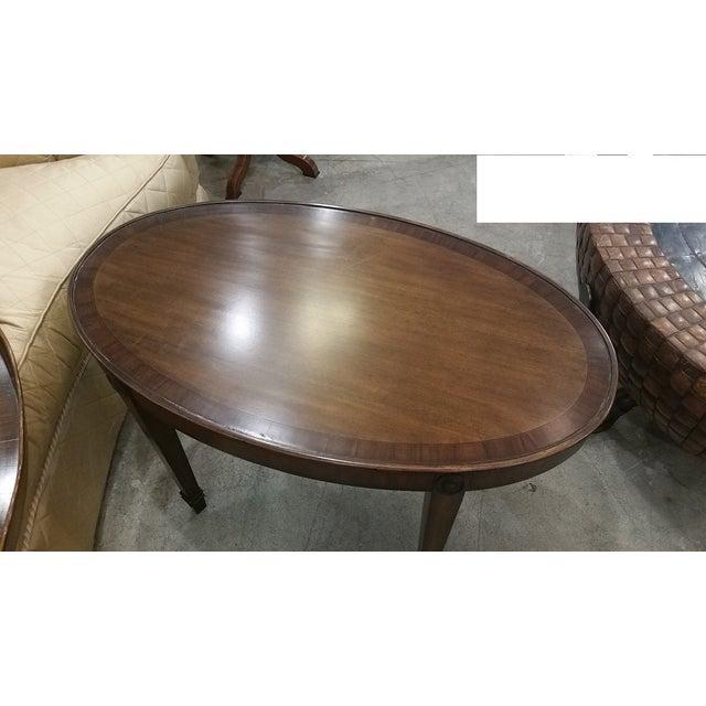 Image of Maitland Smith Oval Tray Table