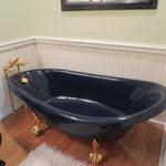 Image of Navy & Brass Kohler Birthday Bathtub