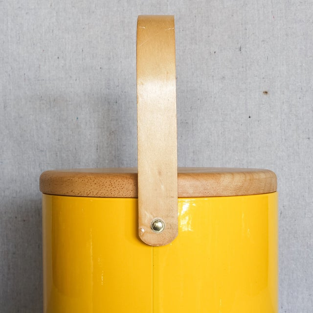 Georges Briard Yellow Ice Bucket - Image 8 of 9