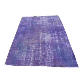 Purple Turkish Handmade Oushak Rug - 4′11″ × 6′11″