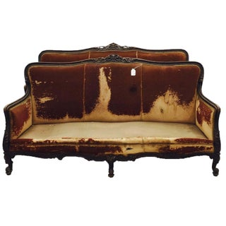 Antique Carved French Sofas - A Pair